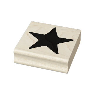 Big Country Star Rubber Art Stamp
