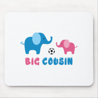 Big Cousin Elephant soccer Mouse Pad