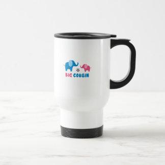 Big Cousin Elephant soccer Travel Mug