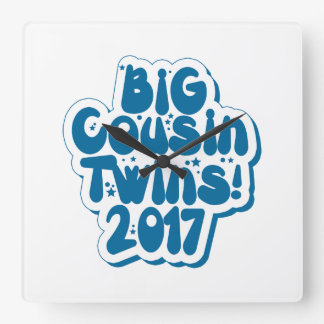 Big Cousin Of Twins 2017 Square Wall Clock