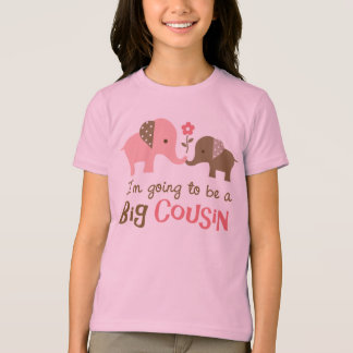 Big Cousin to be - Mod Elephant t-shirts for girls