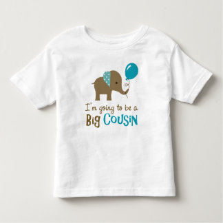 Big Cousin to be - Mod Elephant Toddler T-Shirt