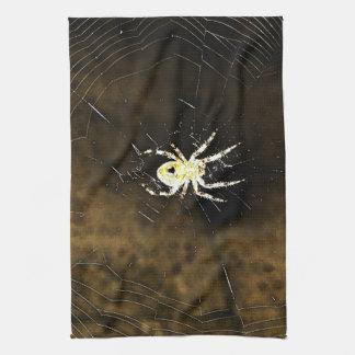 Big Creepy Spider on it's Web Tea Towel