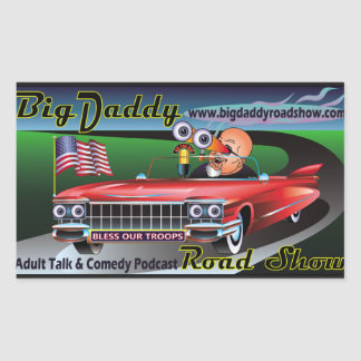 Big Daddy Road Show Podcast Stickers! Rectangular Sticker
