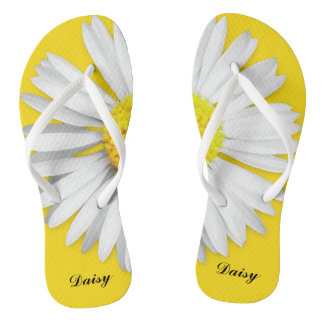 Big Daisy Personalized Flip Flops
