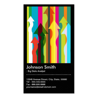 Big Data Analyst - Colorful & QR Code Pack Of Standard Business Cards
