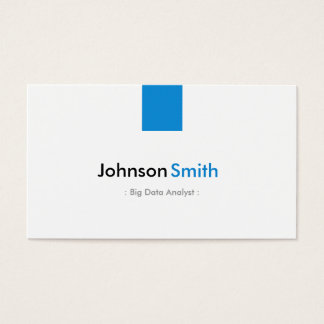 Big Data Analyst - Simple Aqua Blue Business Card