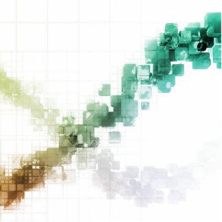 Big Data Visualization Analytics Technology Photo Sculpture Badge