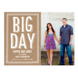 Big Day Save The Date Postcard