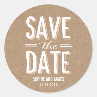 Big Day Save The Date Sticker