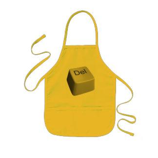 Big delete key kids apron