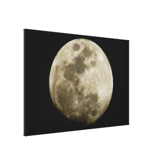 Big Detailed Moon Canvas Print