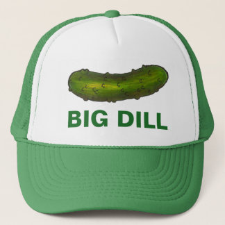 Big Dill (Deal) Green Pickles Crunchy Sour Pickle Trucker Hat