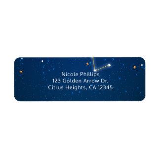 Big Dipper Star Gazing Constellation Celestial Return Address Label