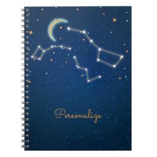 Big Dipper Star Gazing Constellation Celestial Spiral Notebook