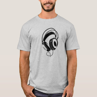big dj headphones t-shirt