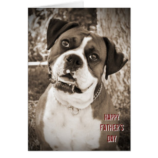 Big Dog Happy Father's Day Greeting Card