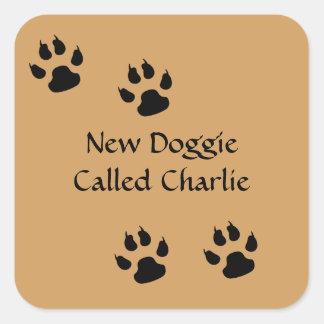 Big Dog Template Square Sticker