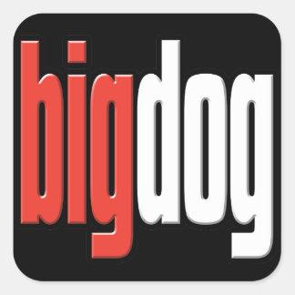 Big Dog. Top Dog. Big Cheese. Boss. #1 Man.Sticker Square Sticker