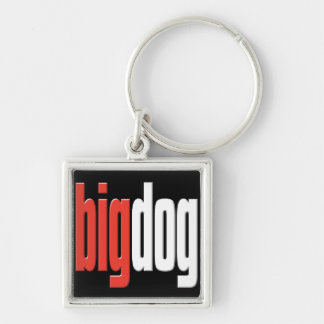 Big Dog. Top Dog. Big Cheese. Boss.key chain Silver-Colored Square Key Ring