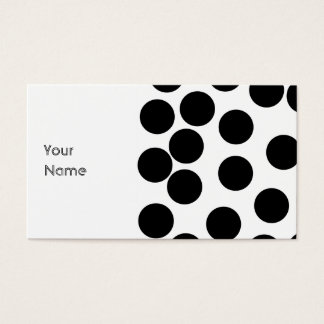 Big Dots. Black and White Pattern. Business Card