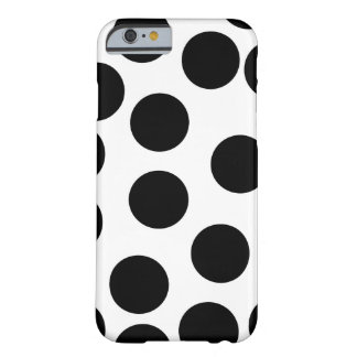 Big Dots. Black and White Pattern. Barely There iPhone 6 Case