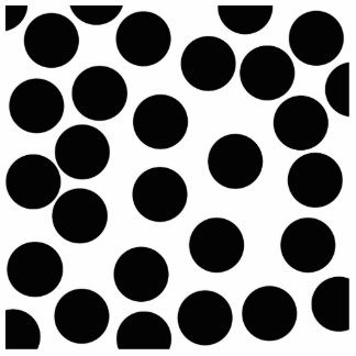Big Dots. Black and White Pattern. Standing Photo Sculpture