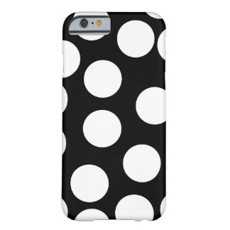 Big Dots in Black and White. Barely There iPhone 6 Case