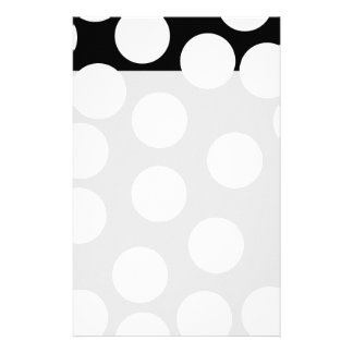 Big Dots in Black and White. Customized Stationery