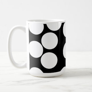 Big Dots in Black and White. Coffee Mugs