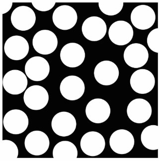 Big Dots in Black and White. Photo Sculpture Badge