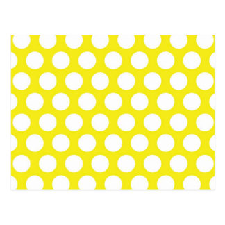 Big Dots on Yellow Design Postcard