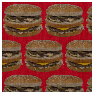 big double cheeseburger red fabric