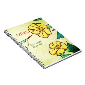 Big dreams never die birds note book