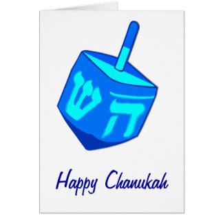 Big Dreidel Chanukah Card
