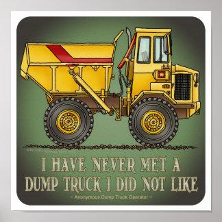 Big Dump Truck Operator Quote Poster