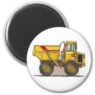 Big Dump Truck Round Magnet