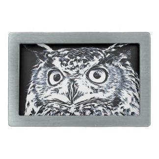 Big Ear Owl Art Belt Buckles