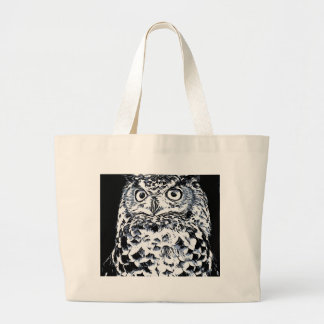 Big Ear Owl Art Large Tote Bag