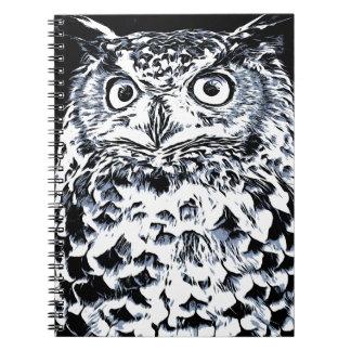 Big Ear Owl Art Notebook