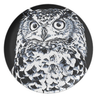 Big Ear Owl Art Plate