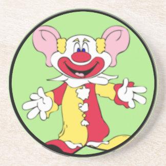 Big Ears Clown Beverage Coaster