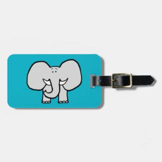 Big Ears the Elephant Blue Luggage Tag