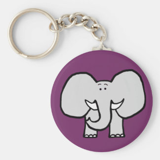 Big Ears the Elephant Purple Keychain