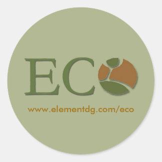 big eco sitcker - Customized Classic Round Sticker