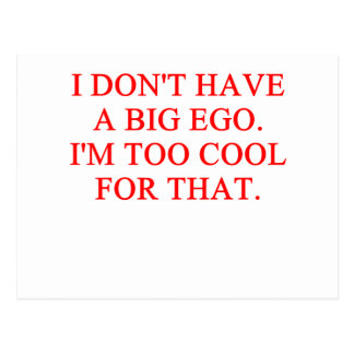 big ego postcard