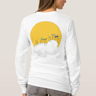 Big elf sitting on a cloud, long sleeve t-shirt