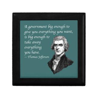 BIG ENOUGH GOVERNMENT SMALL SQUARE GIFT BOX