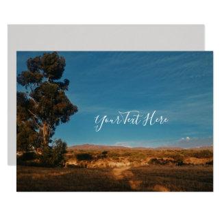Big Eucalyptus Tree Blue Sky Invitation Card