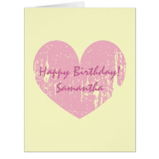 Big extra large Birthday card with heart for women